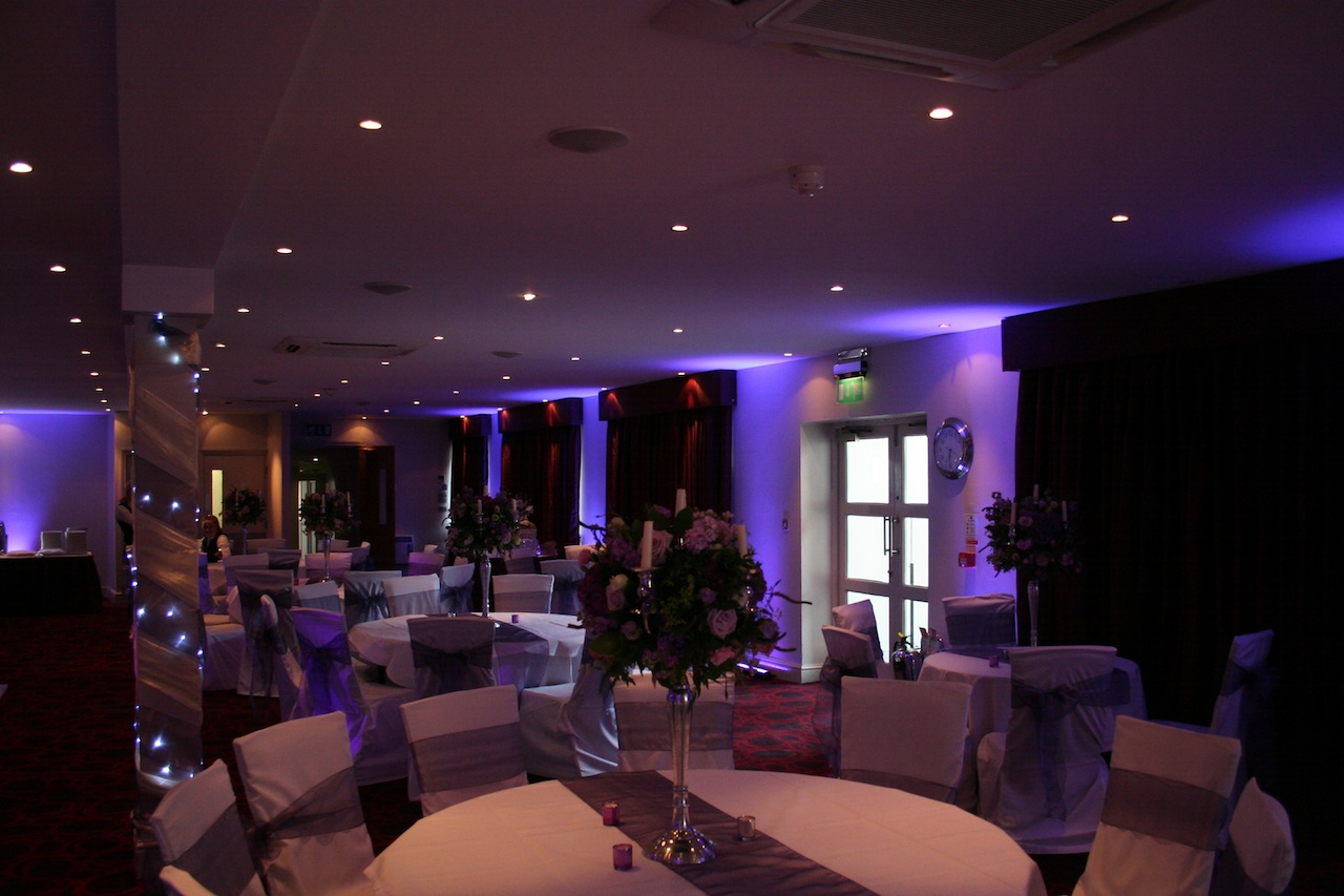 Wedding Purple Lighting