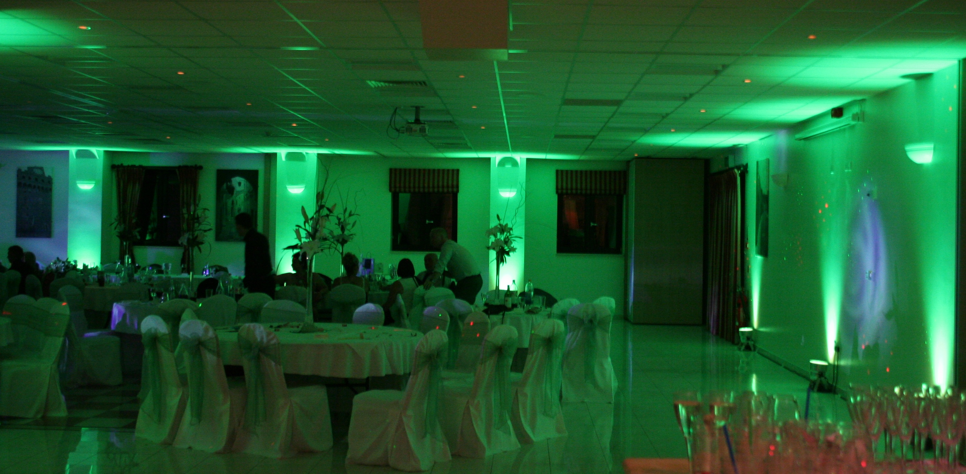 Wedding Lighting in Green