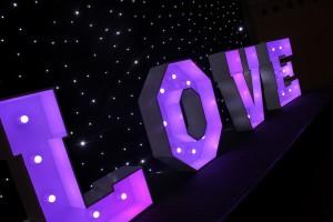 LOVE Letters Hire Bedfordshire